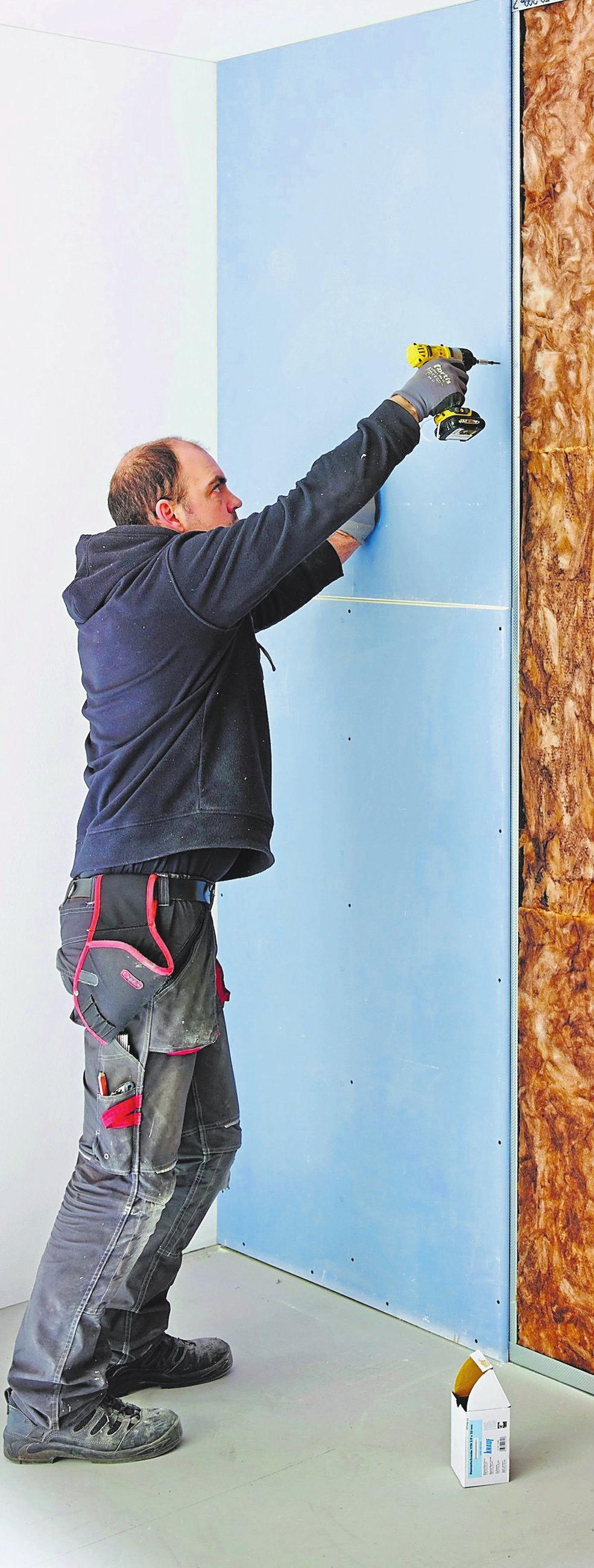 Innenwände und Raumteiler aus Hartgipsplatten sind ideal, um große Räume neu zu strukturieren. Foto:Knauf/txn