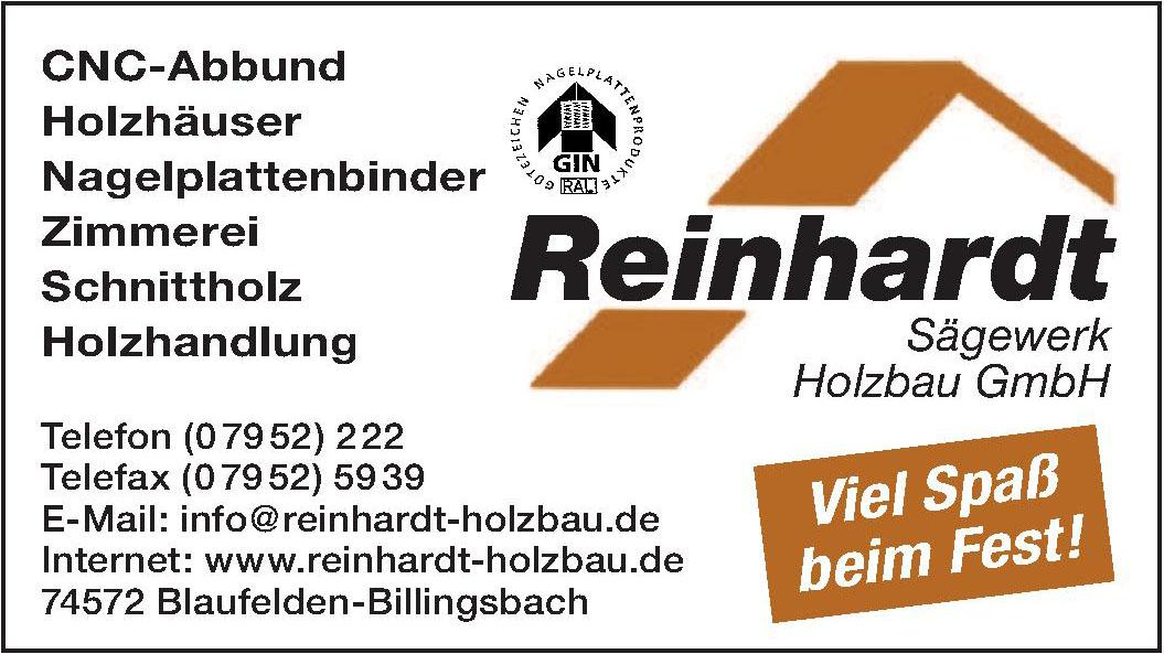 Reinhardt Sägewerk Holzbau GmbH
