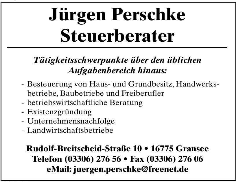 Jürgen Perschke Steuerberater