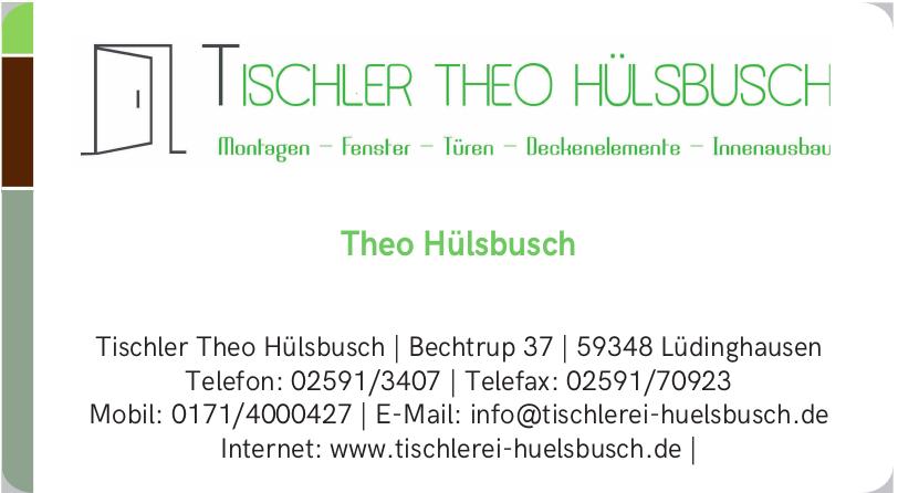 Tischler Theo Hülsbusch