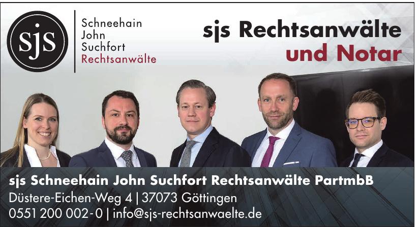 sjs Scheehain John Suchfort Rechtsanwälte PartmbB