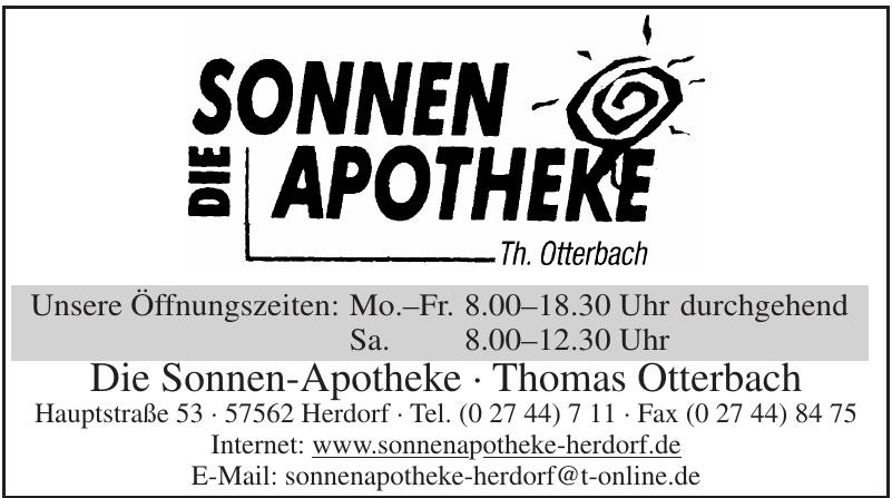 Die Sonnen-Apotheke - Thomas Otterbach