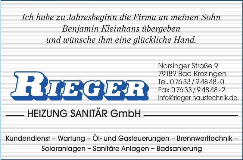 Rieger Heizung Sanitär GmbH