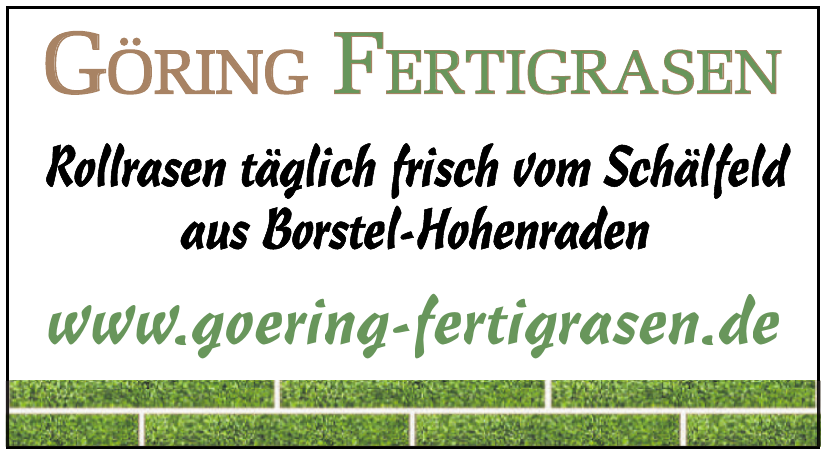 Göring Fertigrasen