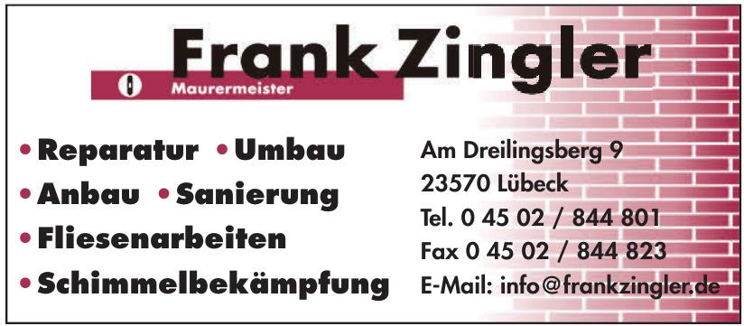 Maurermeister Frank Zingler