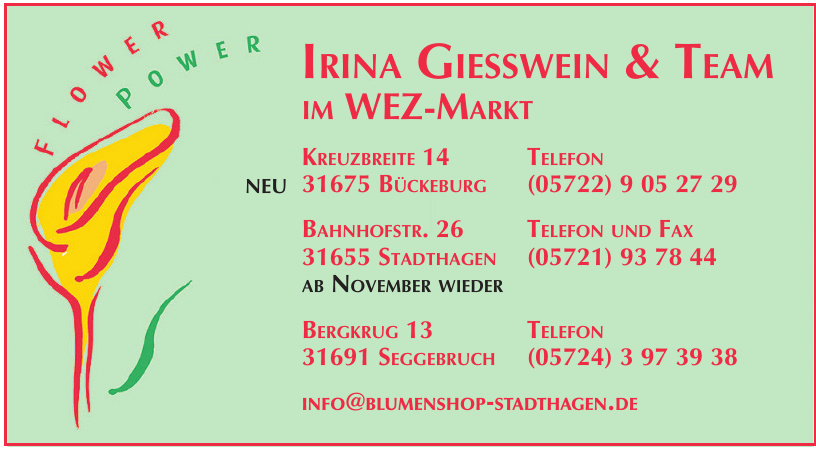 Irina Giesswein & Team im WEZ-Markt