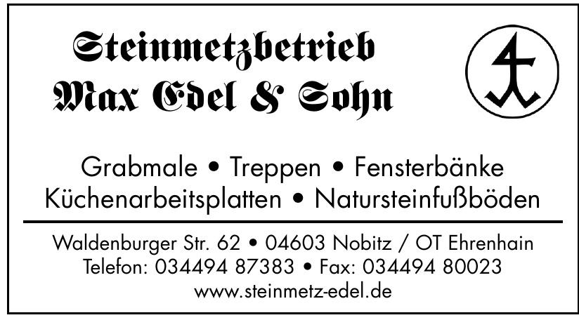 Steinmetzbetrieb Max Edel & Sohn