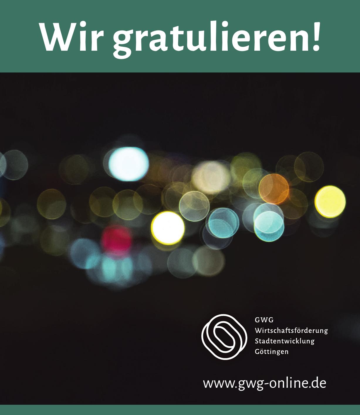 GWG Wirtschaftsförderung Stadtentwicklung Göttingen