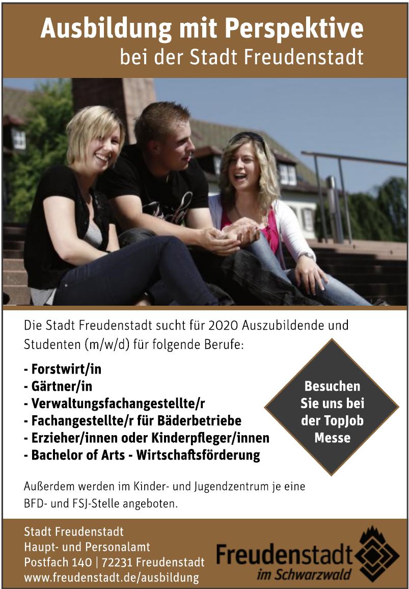 Stadt Freudenstadt Haupt- und Personalamt
