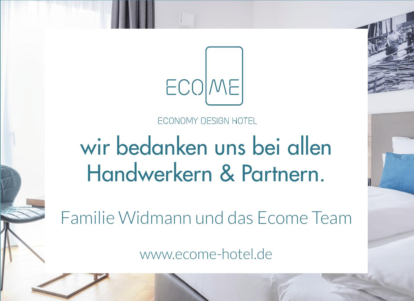 Familie Widmann und das Ecome Team