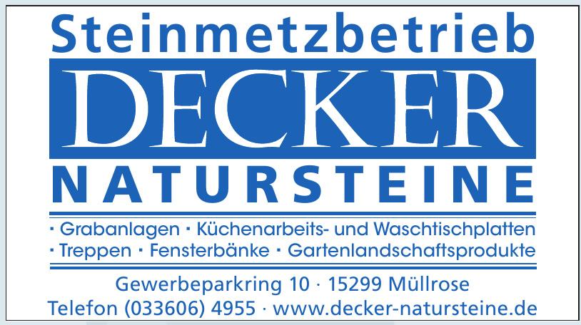 Decker Natursteine