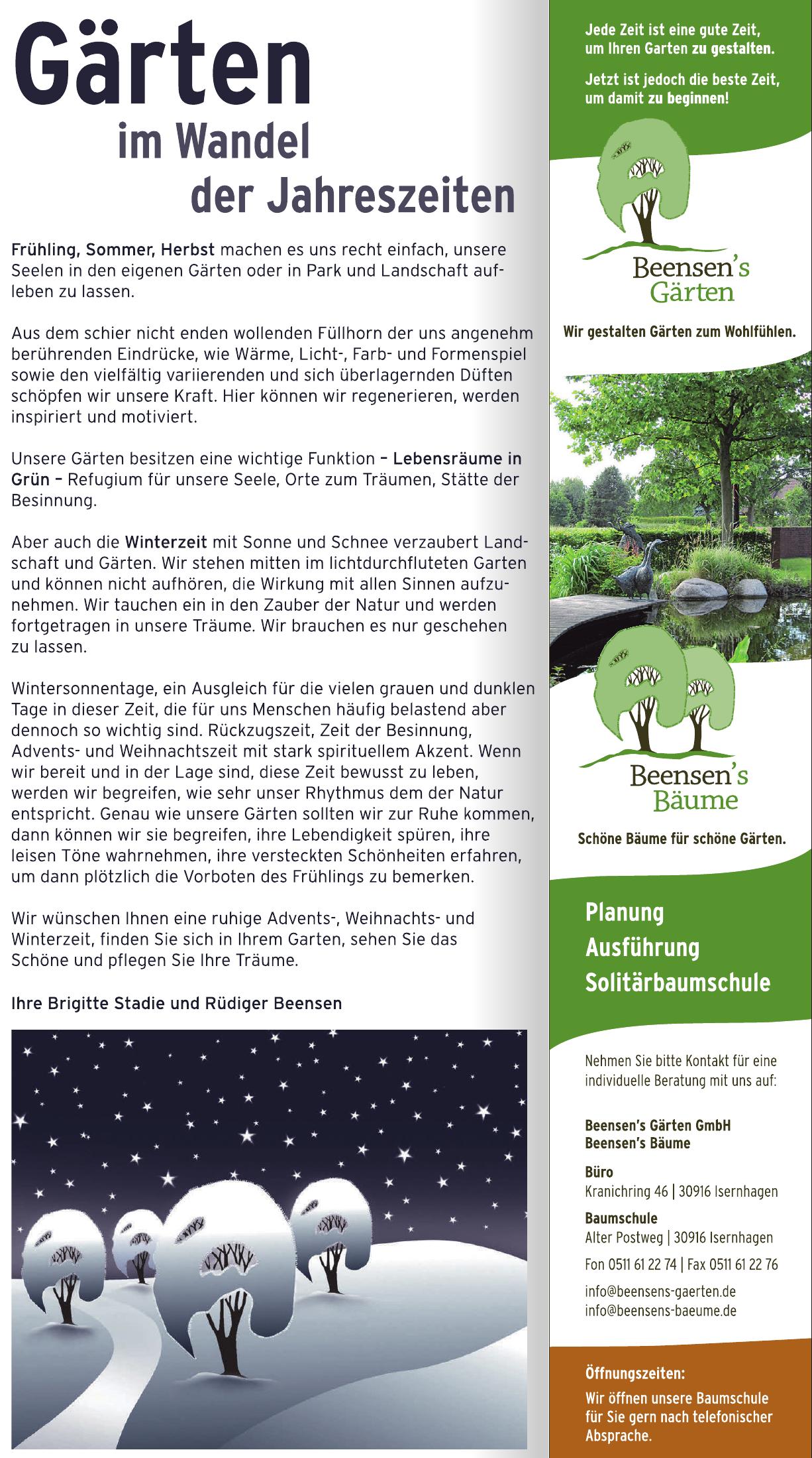 Beensen's Garten GmbH  Beensen's Bäume