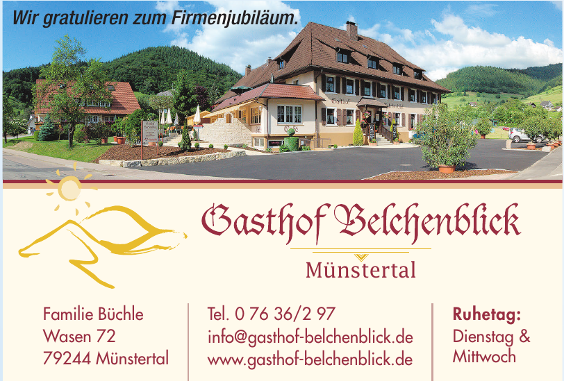Gasthof Belchenblick Münstertal