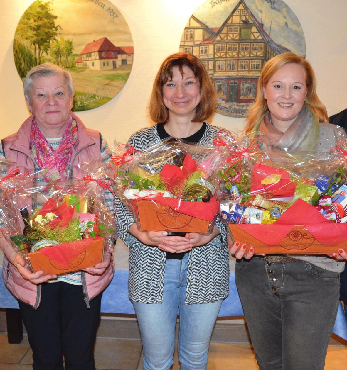 Die besten Schützinnen: Marita Jenßen, Anja Zander und Sandra Günther.