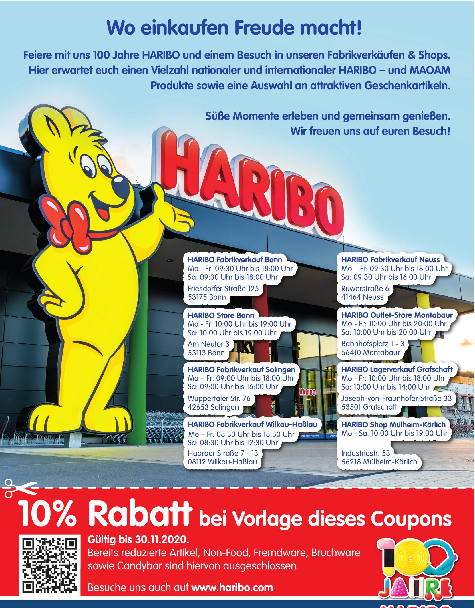 HARIBO Fabrikverkauf Bonn