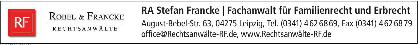 RA Stefan Francke / Fachanwalt für Familienrecht und Erbrecht