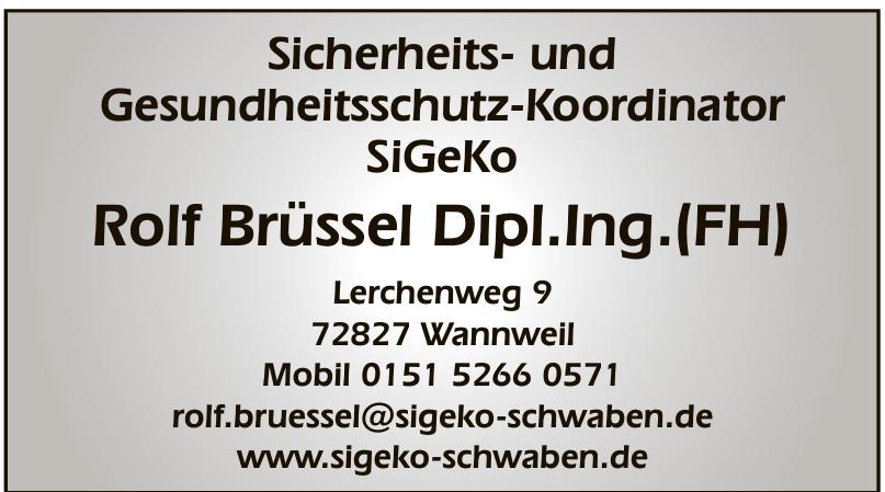 Rolf Brüssel Dipl. Ing. (FH)