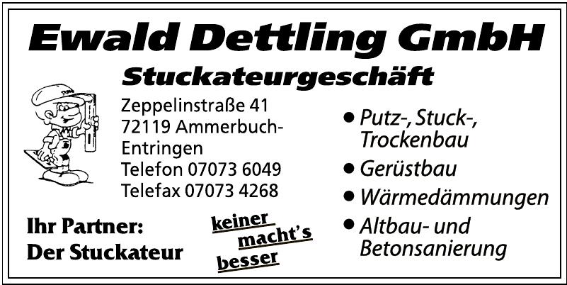 Ewald Dettlling GmbH Stuckateurgeschäft