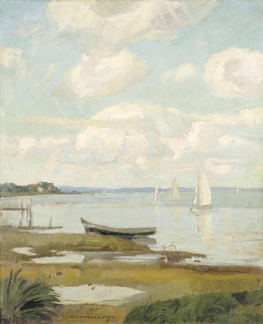 """""""Segelboote auf dem Ammersee"""" 1921 Christian Landenberger (1852-1927) – Privatbesitz"""