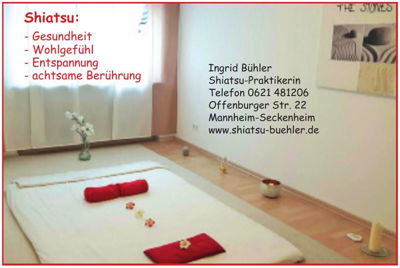 Ingrid Bühler Shiatsu-Praktikerin