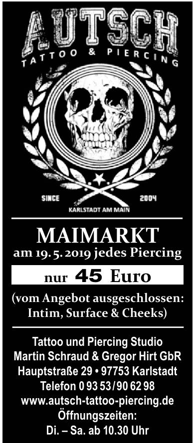 Autsch Tatto und Piercing Studio Martin Schraud & Gregor Hirt GbR