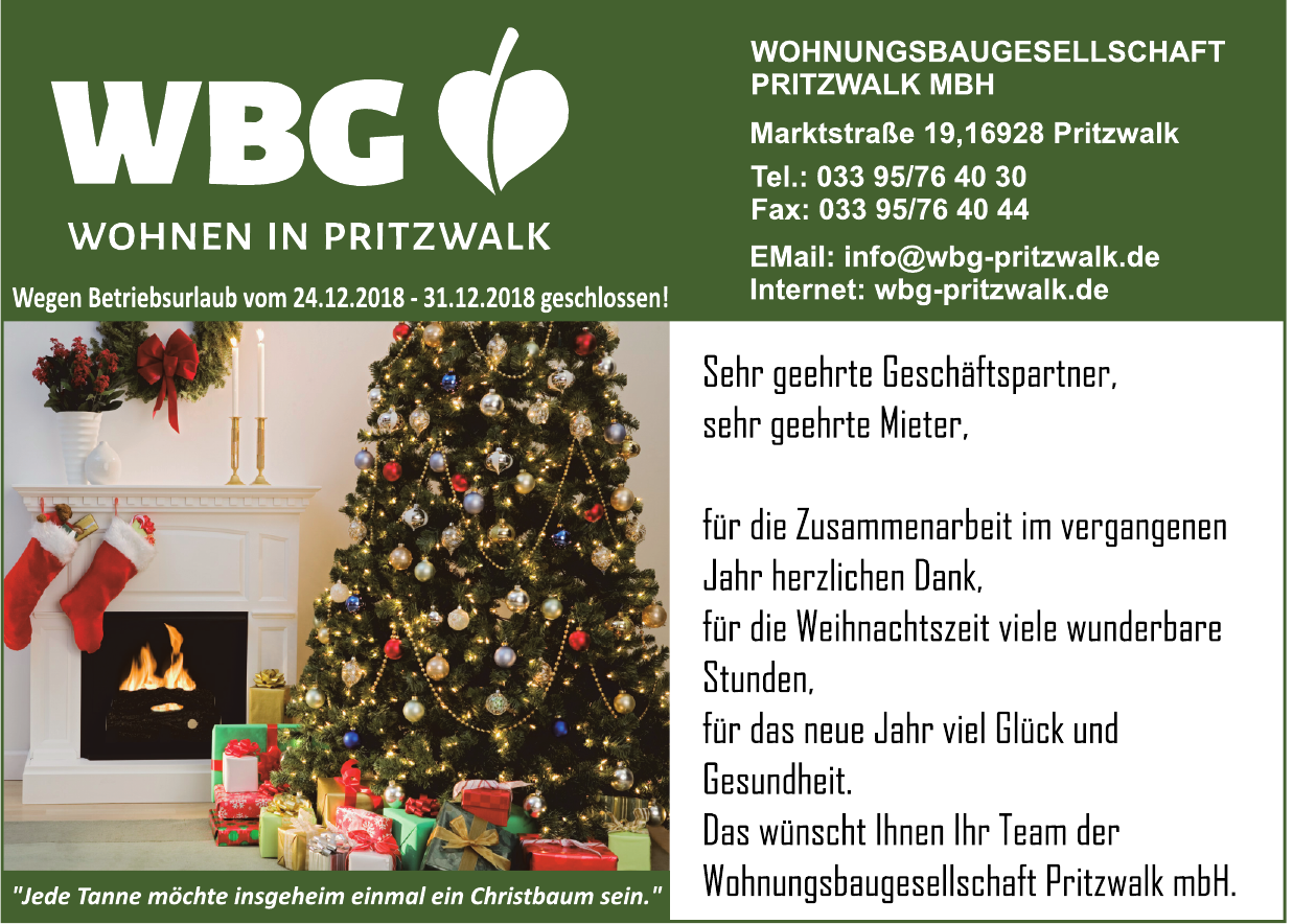 WBG Wohnungsbaugesellschaft Pritzwalk MBH