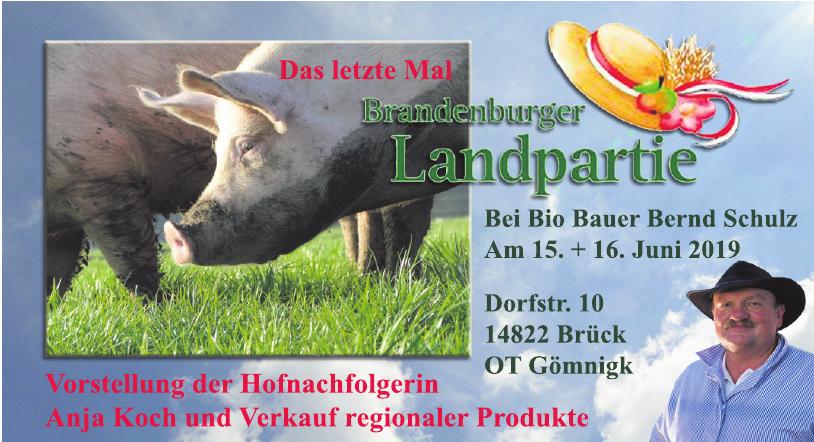 Bio Bauer Bernd Schulz