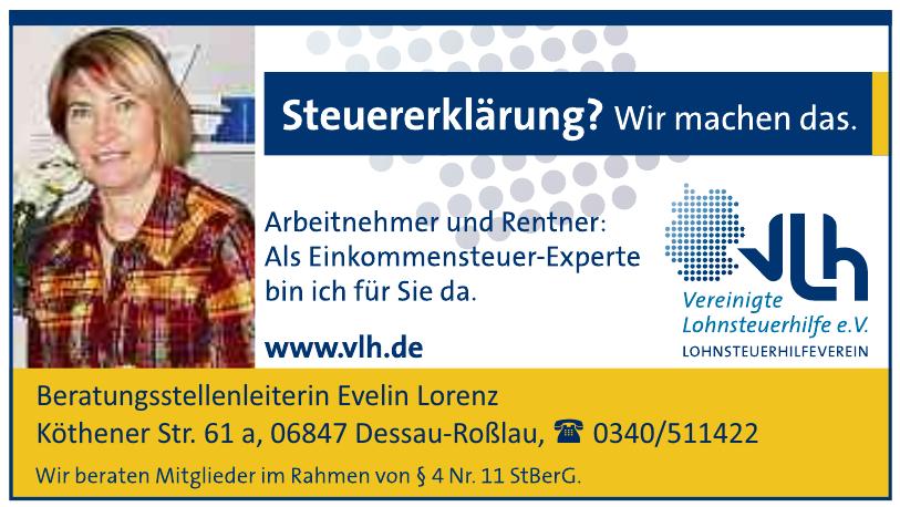 Vlh - Vereinigte Lohnsteuerhilfe - Beratungsstellenleiterin Evelin Lorenz