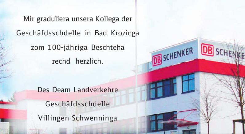 DB Schenker - Geschäftsstelle Villingen-Schwenninga