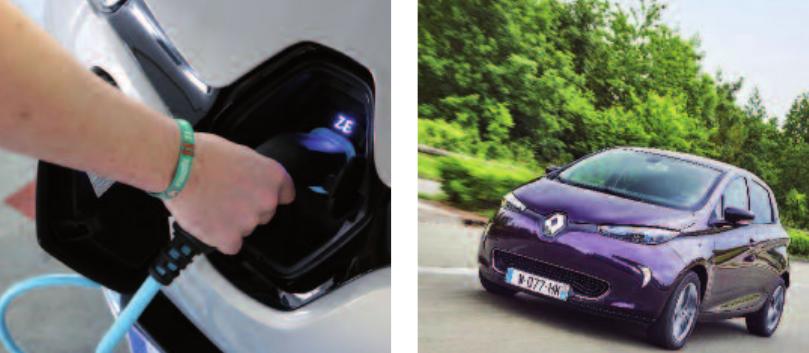 """Mit dem patentierten Ladesystem kann der Renault ZOE überall """"volltanken"""" Fotos: RENAULT"""