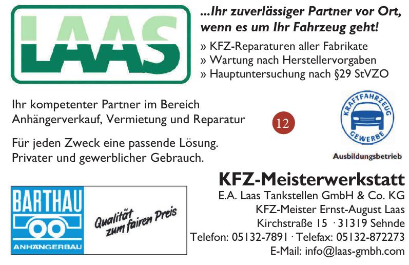 KFZ-Meisterwerkstatt E.A. Laas Tankstellen GmbH & Co. KG