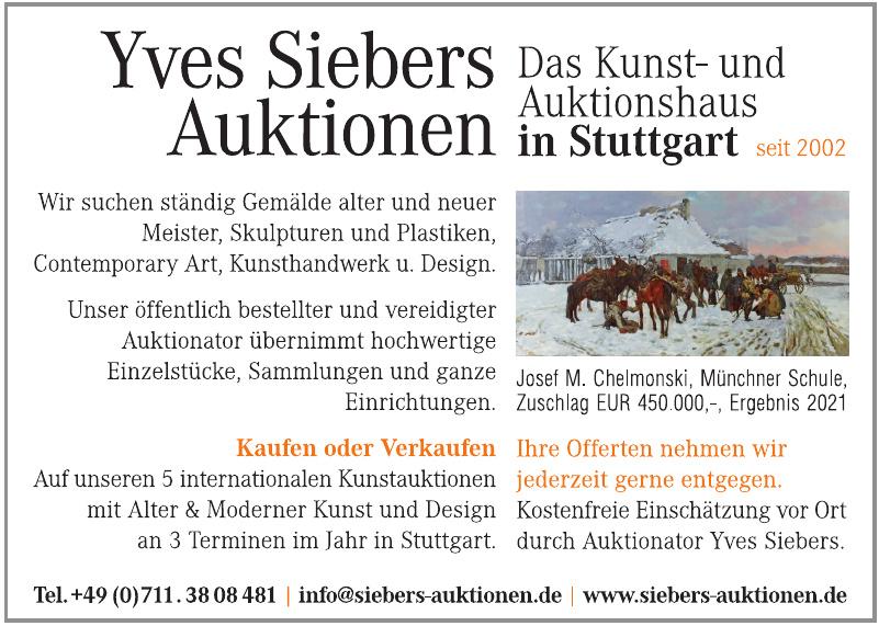 Yves Siebers Auktionen
