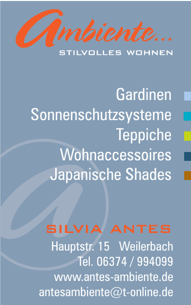 Silvia Antes Ambiente Stilvolles Wohnen
