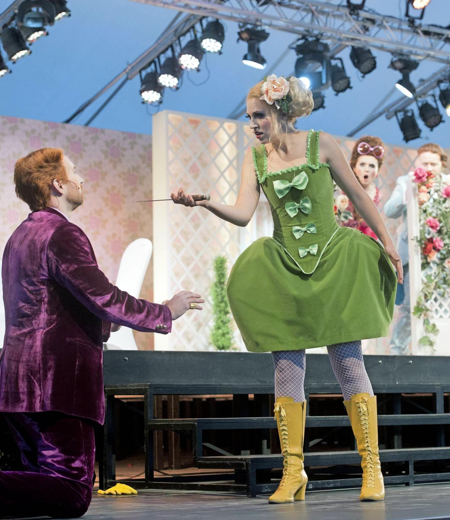"""Das gab es noch nie in Heilbronn: Gartenoper """"La finta giardiniera"""" unter freiem Himmel."""