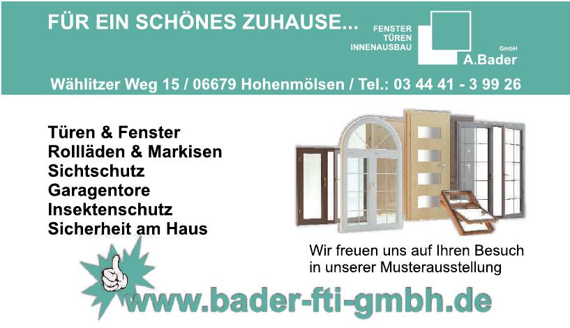 A. Bader FTI GmbH