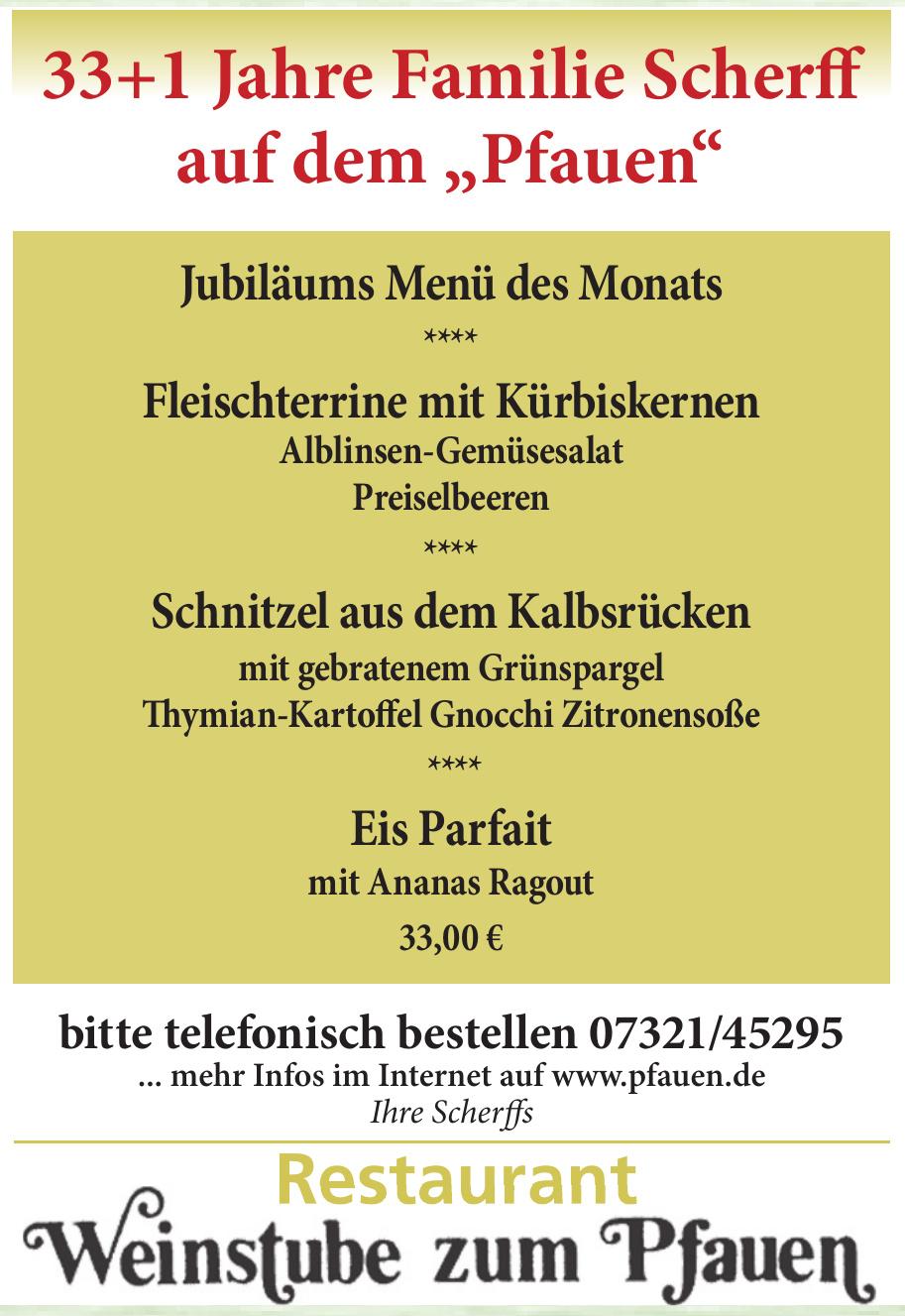 Restaurant Weinstube zum Pfauen
