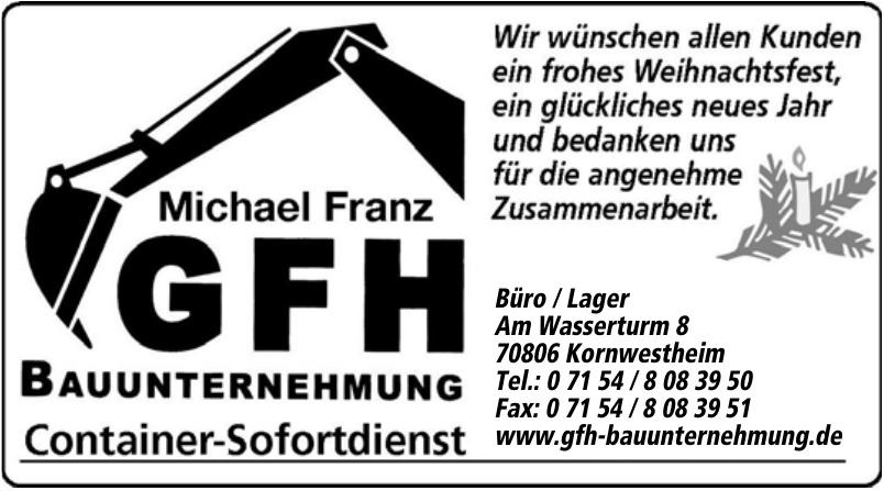 Michael Franz GFH Bauunternehmung