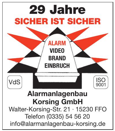 Alarmanlagenbau Korsing GmbH