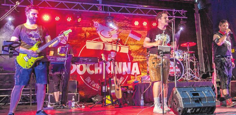 Volksmusik, Schlager und Chart-Hits gehören zum Repertoire der Band Dochrinna, die a 27. August zu Gast ist. FOTO: KAG