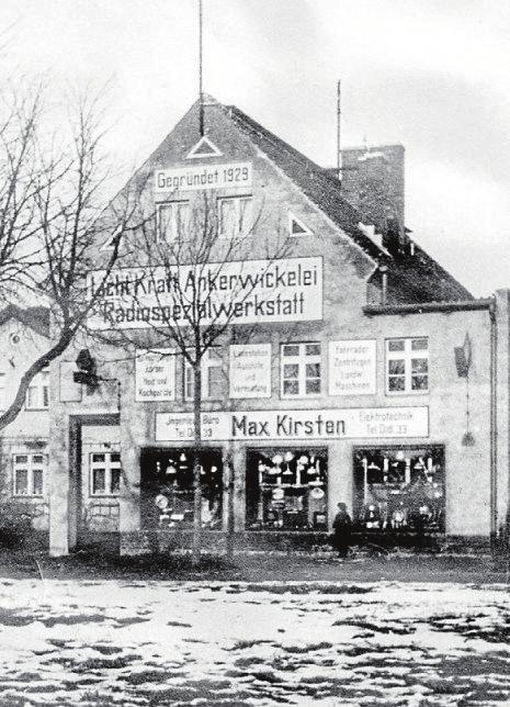 """In Ostpreußen hat Elektro Kirsten seine Wurzeln: Reinhard Kirstens Eltern Max und Käthe eröffneten 1929 eine """"Licht Kraft Ankerwickelei"""" und Radiospezialwerkstatt. Foto: pr"""