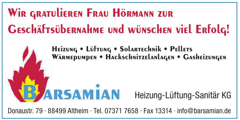 Barsamian Heizung-Lüftung-Sanitär KG