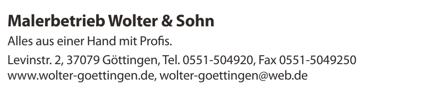 Malerbetrieb Wolter & Sohn