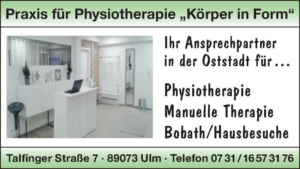 """Praxis für Physiotherapie """"Körper in Form"""""""