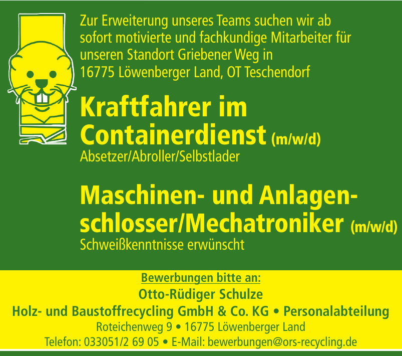 Otto-Rüdiger Schulze Holz- und Baustoffrecycling GmbH & Co. KG