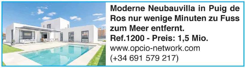 Moderne Neubauvilla in Puig de Ros