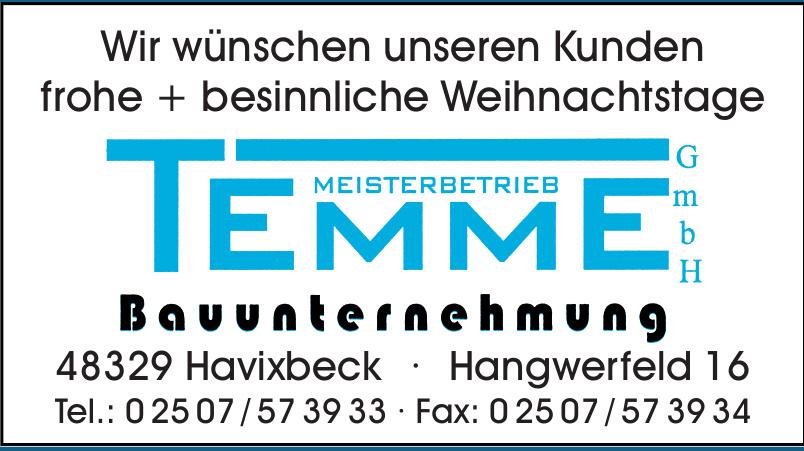 Temme GmbH Meisterbetrieb