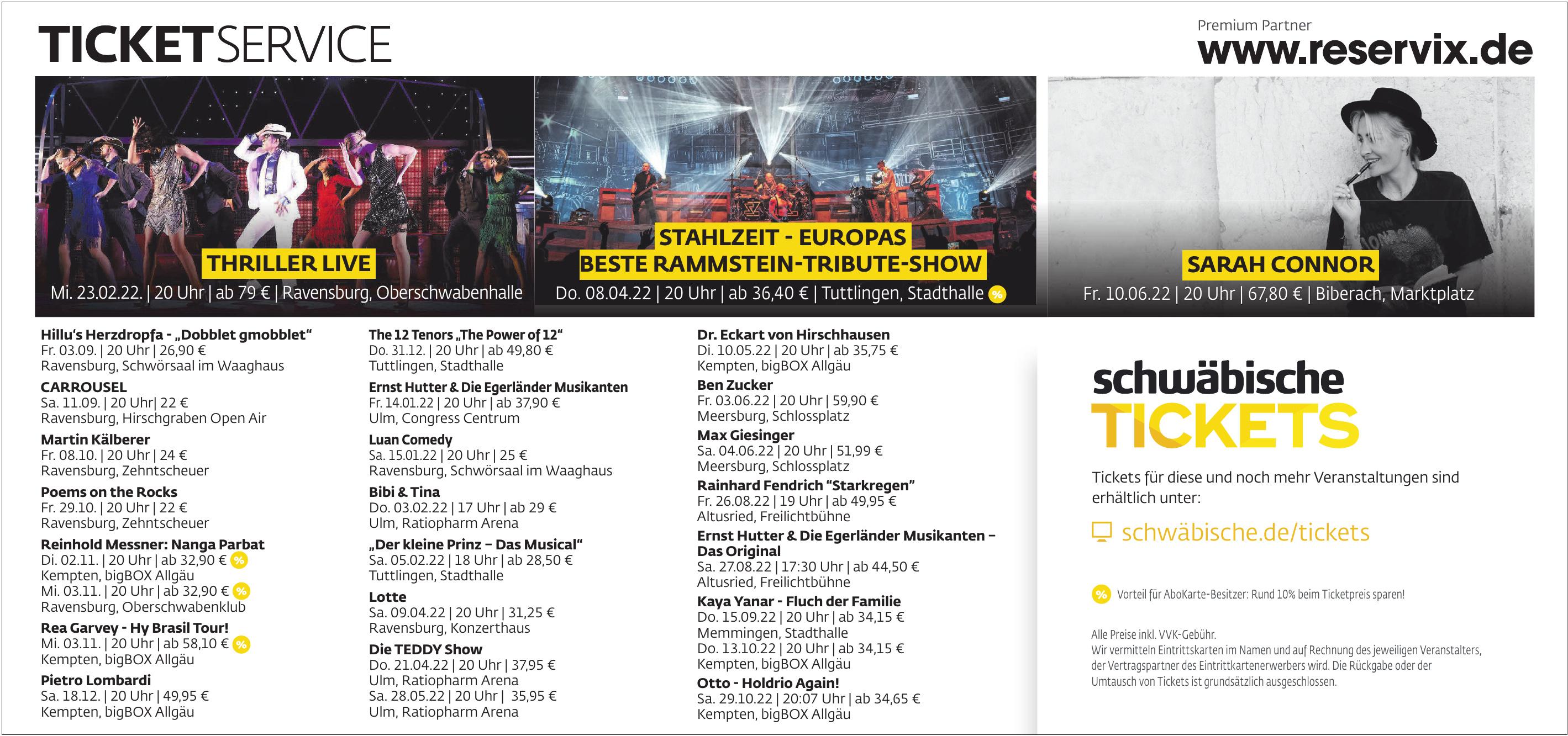 Schwäbische Tickets
