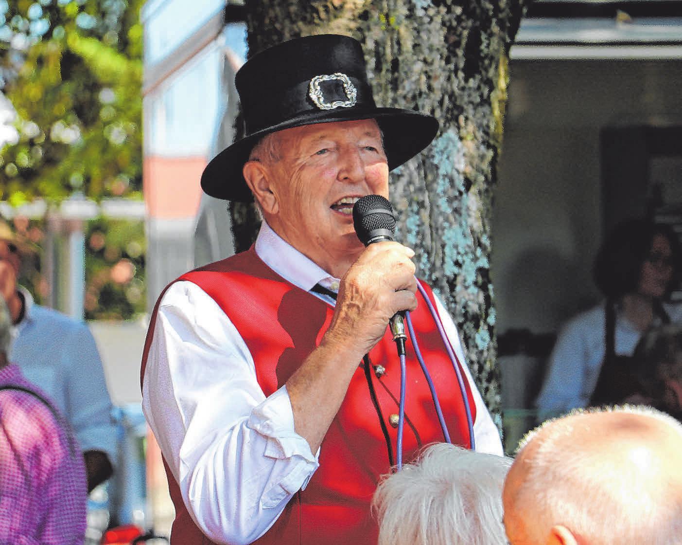 Franz Mayerföls, Vorsitzender des Vereins Brauchtumspflege Magnus-, Heimat- und Kinderfest .