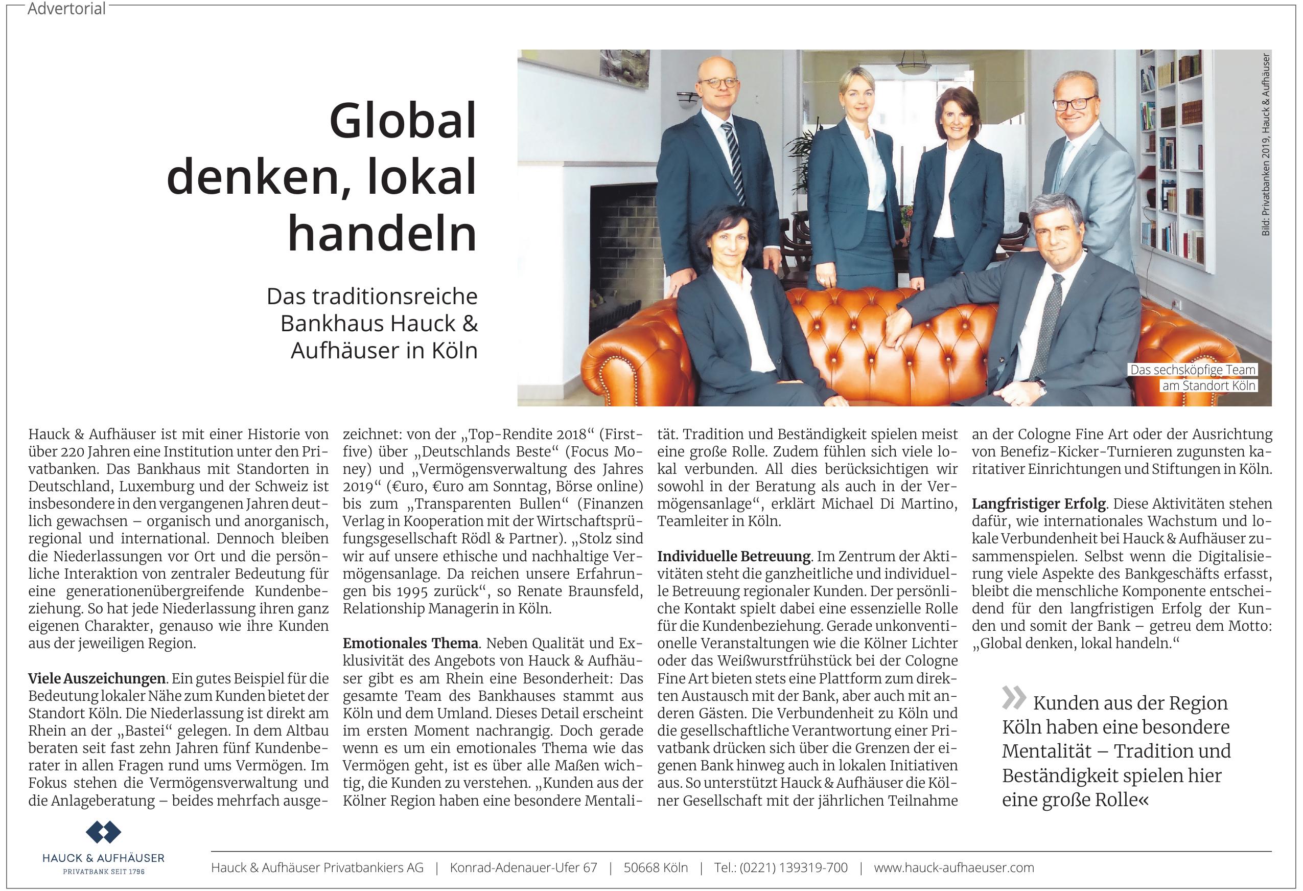 Hauck & Aufhäuser Privatbankiers AG