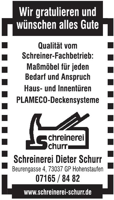 Schreinerei Dieter Schurr